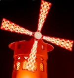 The Moulin Rouge or Red Windmill, a famous nightclub in Paris
